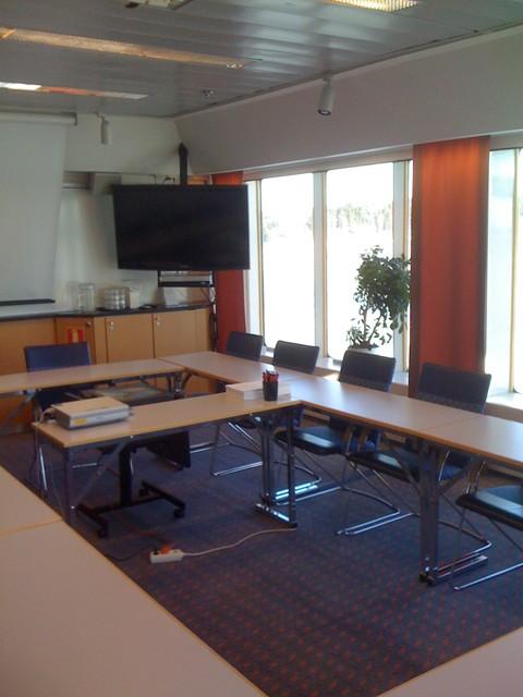 En överblick över vårt konferensrum vi hyrde ett par timmar.